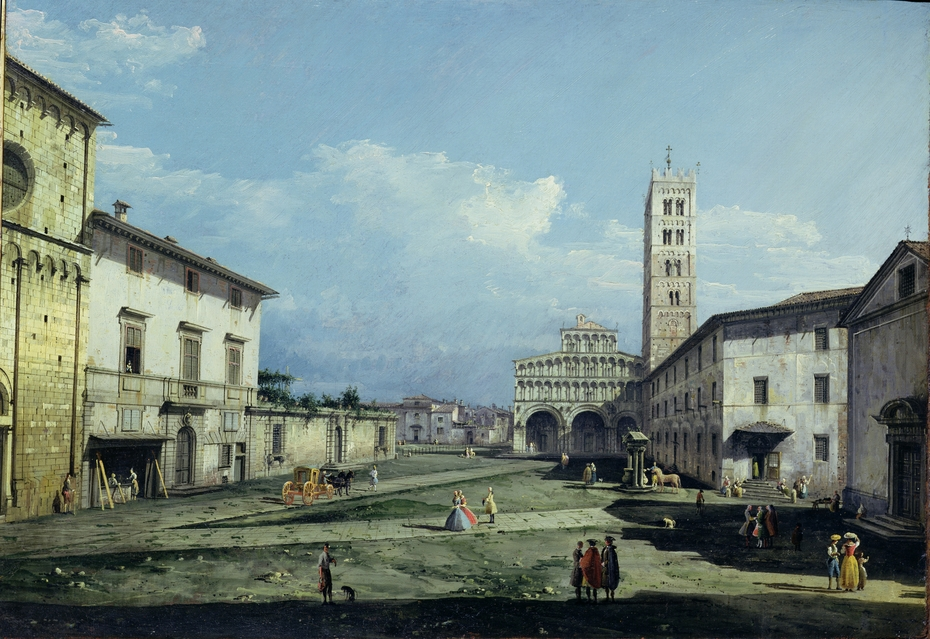 piazza san martino in a painting by B.Bellotto