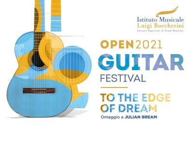 image logo with guitar of the Boccherini Open guitar festival 2021