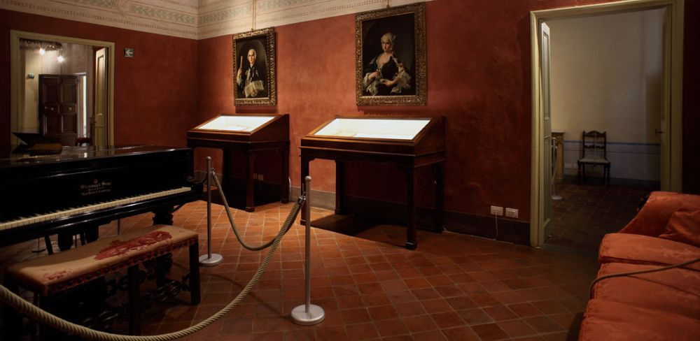 inside room of the museum Puccini birthplace