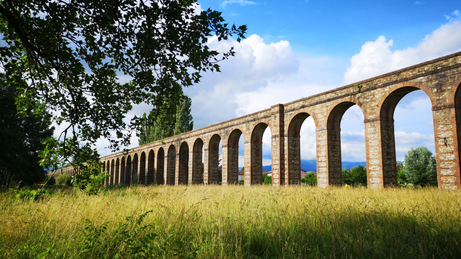 Nottolini aqueduct in the Lucca countryside