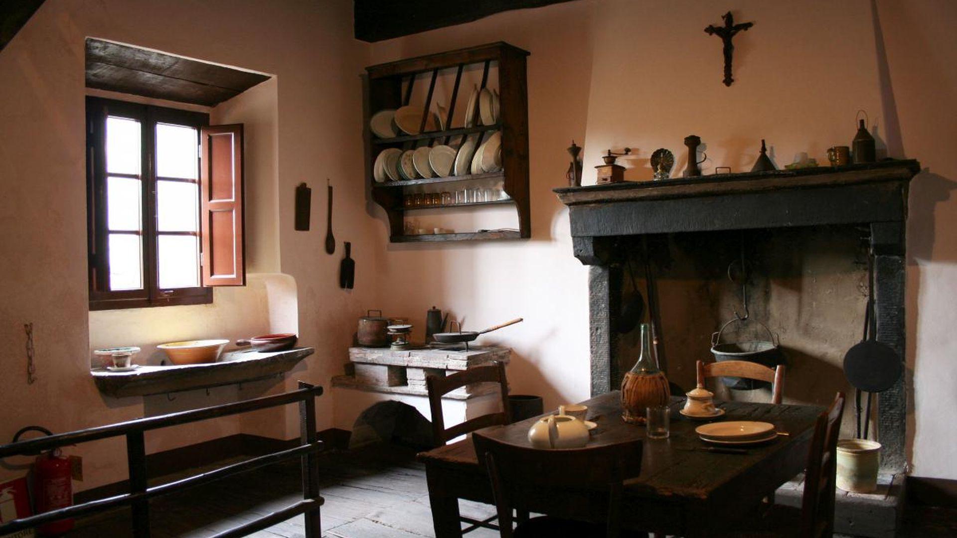 La cucina di Casa Puccini a Celle dei Puccini