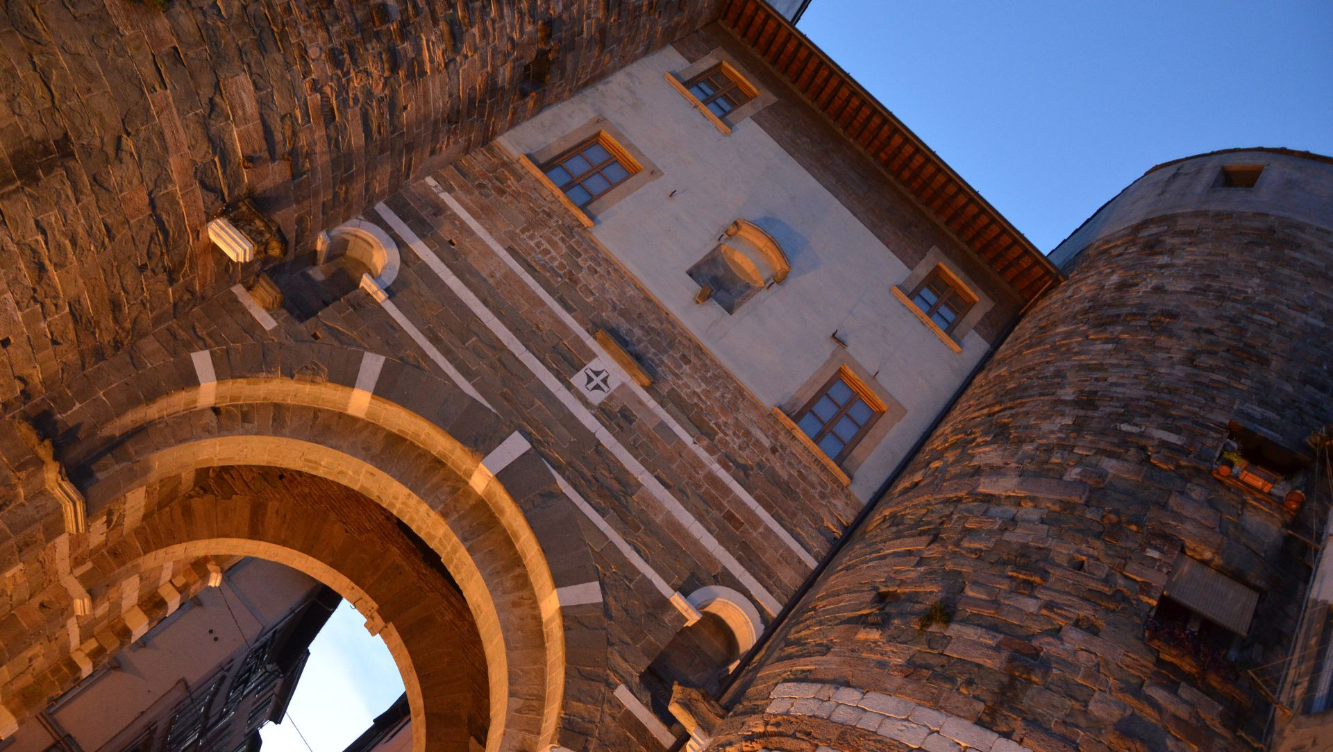 the san gervasio gate of the medieval walls of Lucca