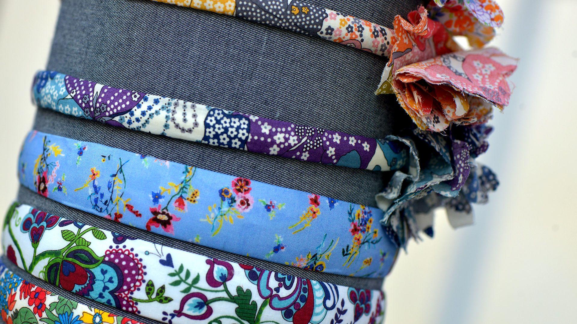 passate artigianlai in stoffa al mercatino arte e ingegno in san paolino a lucca