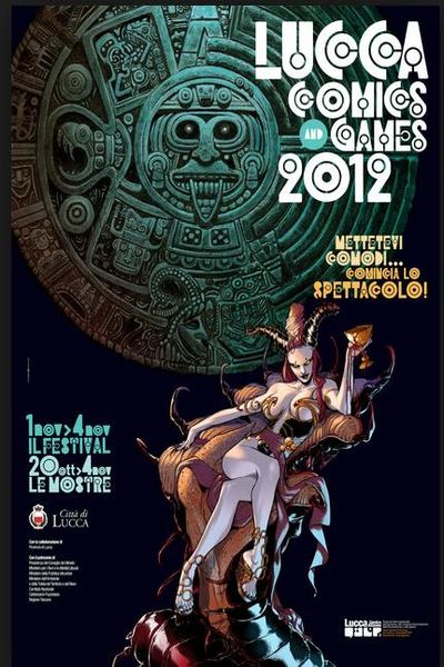 the labirinth of cathedral san martino in th poster of Lucca comics and games 2012